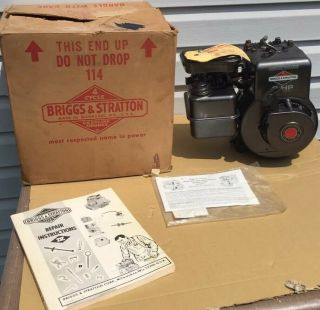 Vintage Briggs And Stratton 3hp Engine 3 Hp Motor Nos Wow Model 80202