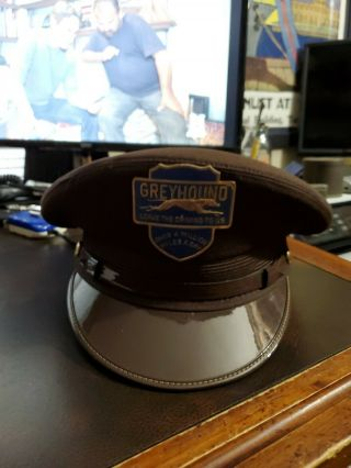 Vintage 1950s Greyhound Bus Driver Hat