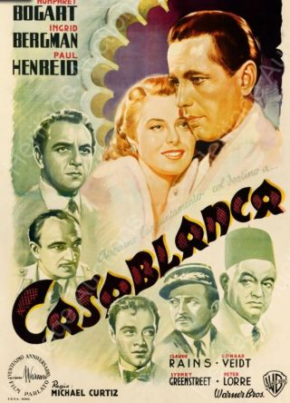 Movie 16mm Casablanca Feature Vintage 1942 Drama Film Humphrey Bogart