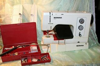 Vintage Bernina Record 830 Sewing Machine With Accessories Estate P0