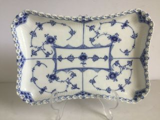 Vintage Royal Copenhagen Blue Fluted Full Lace Tray Platter 1 1195 First Quality