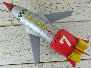 Solar X 7 S - X7 Space Ship Rocket Tin Toy Rare Vintage T.  N Nomura Japan