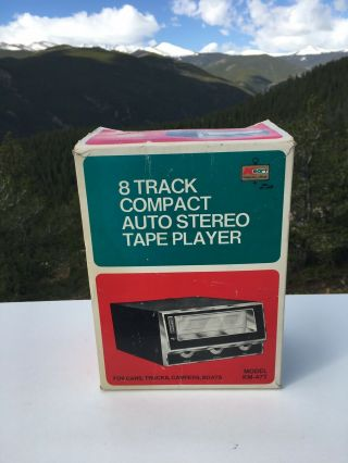 Vintage Kmart Audio 8 Track Auto Stereo Tape Player