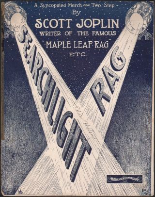 1907 Scott Joplin Searchlight Rag Antique Ragtime Piano Solo Rare Sheet Music