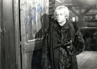 Horror German Actor Klaus Kinski,  Signed Vintage Photo