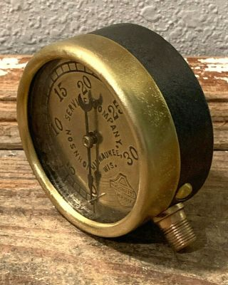 Late 1800s Vintage Ashcroft Brass Pressure Gauge,  Steampunk,  Antique,  Steam