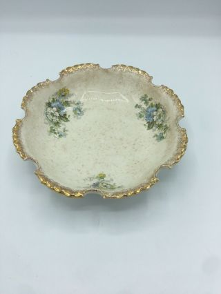 Vintage Bowl W Note Claiming President Abraham Lincoln Ate Strawberries From It