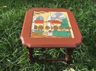 Rare Vtg Mission California Tile Top Table - Catalina - Monterey - 1930
