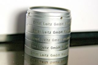 Rare - Ex - Vintage Ernst Leitz - Wetzlar 5/ Uv,  Rh,  Or,  Gr,  2 Filters For 50 Xenon Len