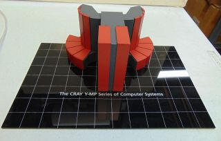 Vintage Cray Y - Mp Supercomputer Scale Model Red