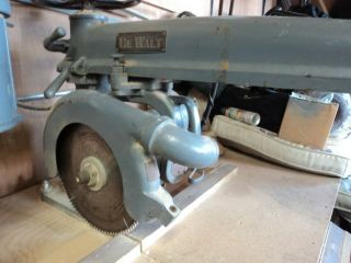 "Vintage Dewalt 12 "" Radial Arm Saw Single Phase 220 In Good"
