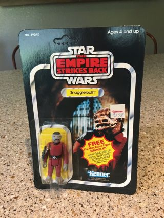 Vintage Star Wars Empire Strikes Back Snaggletooth Cardback 41 Kenner 1980