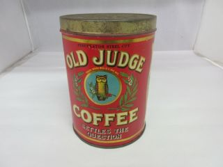 Rare Vintage Coffee Old Judge Advertising Tin 824 - T
