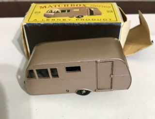 Matchbox Lesney Moko 23 Bluebird Dauphine Trailer Rare Black Wheels Mib