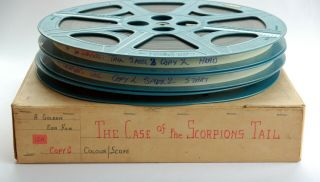 Vintage 16mm Film: The Case of the Scorpion ' s Tail (1971) George Hilton,  Rare 3