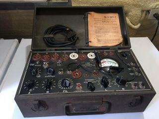 Vintage Signal Corps I - 177 - B Us Army Dynamic Mutual Conductance Tube Tester