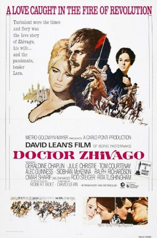 Rare 16mm Feature: Doctor Zhivago (cinemascope) Julie Christie / Dir.  David Lean