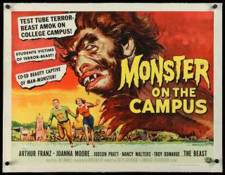 16mm Monster On Campus Feature Movie Vintage 1958 Horror Sci - Fi