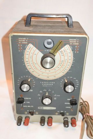 Vintage Heathkit Model It - 11 Capacitor Checker Tester With Tubes For Electronics