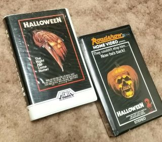 Halloween Vhs Rare Media Home Silver Label 1982 Clam Shell Plus Halloween 2
