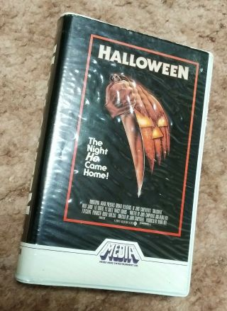 Halloween VHS RARE Media Home Silver Label 1982 Clam Shell Plus Halloween 2 2