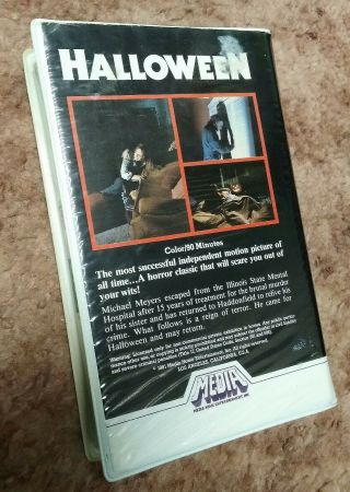 Halloween VHS RARE Media Home Silver Label 1982 Clam Shell Plus Halloween 2 4