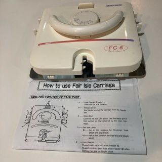 Fc 6 Fairisle Carriage For Lk150 Knitting Machine Rare,