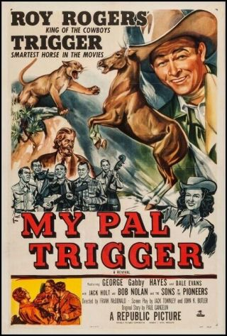 Vintage Movie 16mm My Pal Trigger Feature 1946 Film Western Roy Rogers