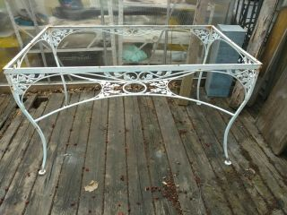 Vintage Wrought Iron Patio Table Frame Only No Glass Woodard? Salterini?