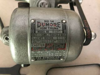 Vintage Dumore Tool Post Grinder No.  14 - Tom Thumb 2 Speed Stepped Pulley