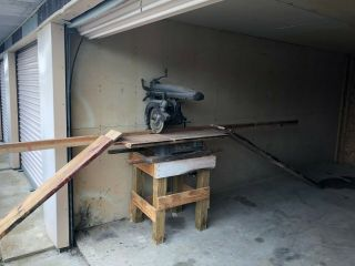 "Vintage Dewalt 12 "" H.  D.  Radial Arm Saw A Real Workhorse,  None Of Today"