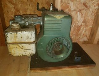 Antique Vintage Briggs & Stratton 6bs Flathead Horizontal Engine 1950s 3.  5 Motor