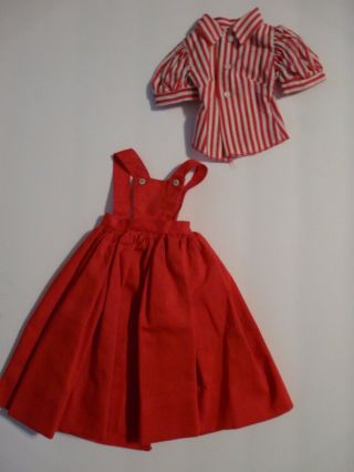 Vintage Madame Alexander Cissy Red Jumper Dress And Top In