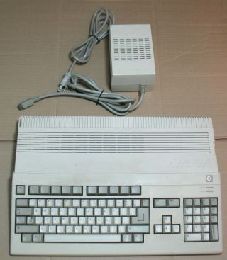 Vintage Commodore Amiga A500 With Power Supply