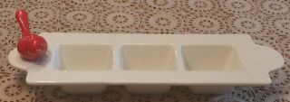 Rare Swiss Dot Nora Fleming 3 Section Candy/garnish Dish Smaller Size