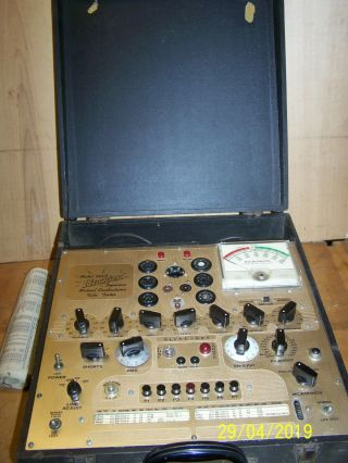 Vintage Hickok Dynamic Mutual Conductance Tube Tester 533a,