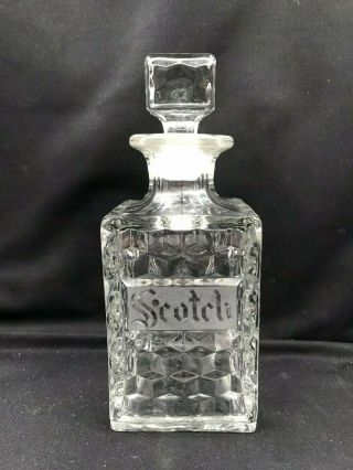 Vintage American Fostoria Scotch Decanter - - Very Rare