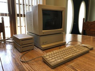 Vintage Apple Iigs In With Monitor,  Drives,  Keyboard,  Mouse