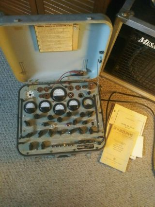 Vintage Tv - 2/u Tube Tester Military Issue