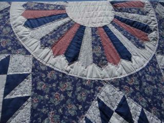 Exquisite Vintage Country Barn Star Field Of Stars Farmhouse Home Made Old Quilt