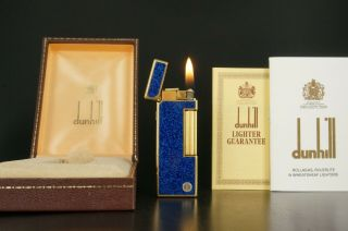 Dunhill Rollagas Lighter Neworings W/box Vintage 574