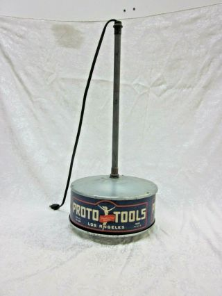 Ultra Rare 1940s Proto Tools Flying Lady Store Display Advertising Lamp