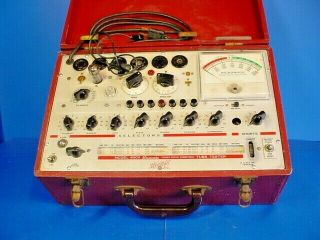 Vintage Hickok 600a Dynamic Mutual Conductance Tube Tester /