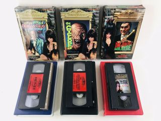 3 Vtg Thriller Video Big Box Vhs Tapes 1985 Horror Movies Dr Jekyll,  Mr.  Hyde,