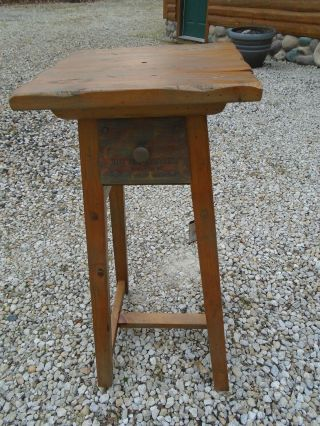 Rare Big Sky Carvers Decoy Carver Bench Display Stand Furniture Cabin Duck Geese
