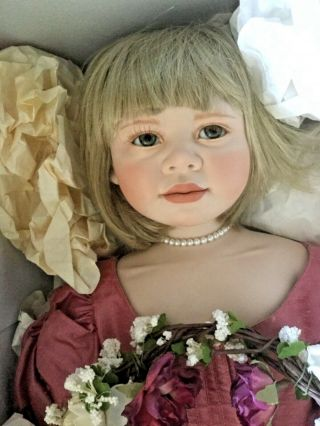 Rare Porcelain Doll Annelies By Christine Orange 2 Of 8 1996