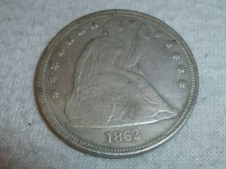 1862 Seated Liberty One Dollar Coin In God We Trust Us United States Eagle Rare