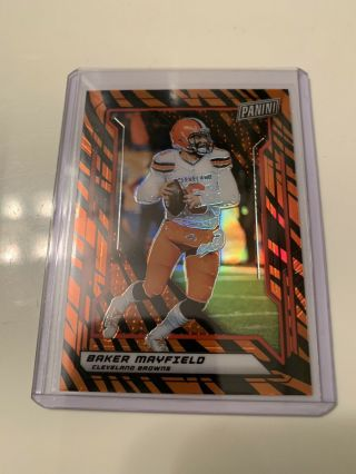 2019 Panini National Baker Mayfield Tiger Stripe Ssp Very Rare Browns