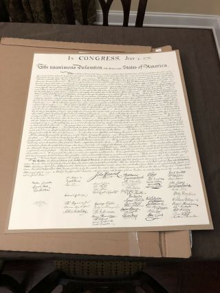"""Us Limited Declaration Of Independence 26"""" By 31"""".  And Very Rare."""
