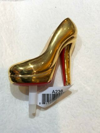 Nora Fleming Gold High Heel Pump Mini Limited Edition Rare